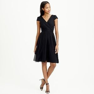 NEW J Crew Navy Silk Mirabelle Dress